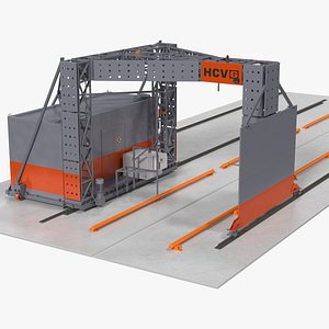 Smiths Detection Freight Scanner HCVG Rigged 3D