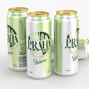 3D Beer Can Staropramen Praha 500ml 2021