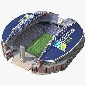 3D Lumen Field Multi Purpose Stadium