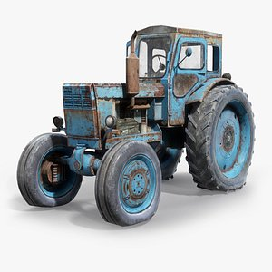 old tractor t-40 3d max