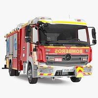 Mercedes Benz Atego 1530 Firetruck Rigged