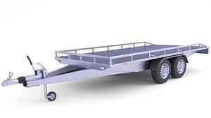 3D Hauling Heavy Equipment Trailer 33