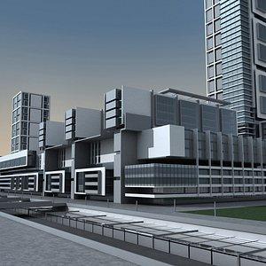 Modern City 11 3D model