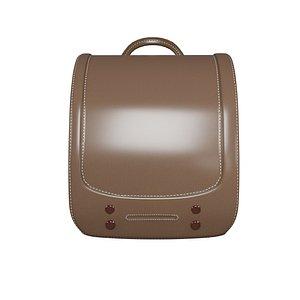 3D student brown bag v8 model