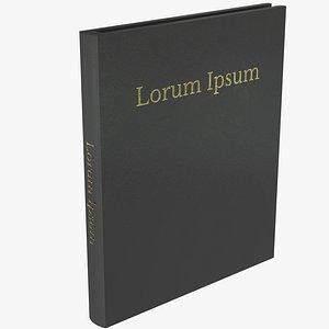 3D model book grey hardcover
