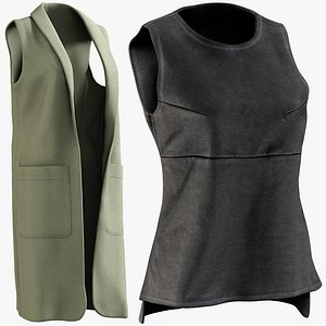 realistic vests 4 collections 3D model