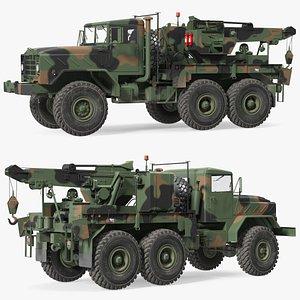 M939 Military Wrecker Green 3D