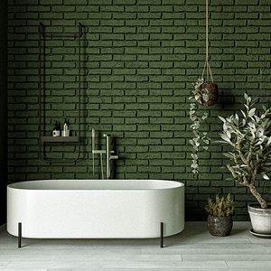 Classic Bathroom interior scene 3D model