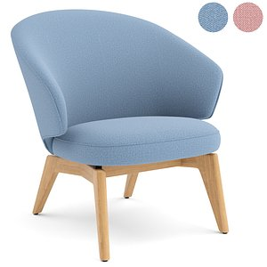 let lounge chair fritz hansen 3D model