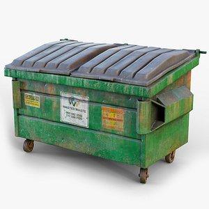 dumpster gameready lods 3D model