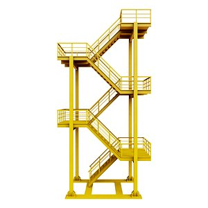 industrial escape stair model