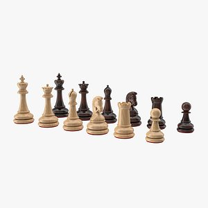 chess pieces wood model