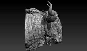 3D Wildebeest head