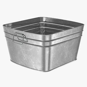 3D Galvanized Square Tub