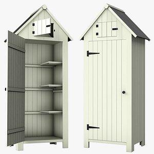 shed storage wooden 3D model