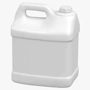 Plastic F Style Bottle 2 5 Gallon With Child Resistant Cap 3D model