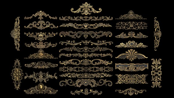 3D model Collection of classic ornament