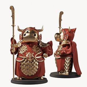 3D animal sculpt model