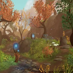 fantasy forest root 3D