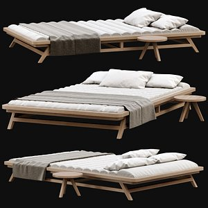 3D chaise lounge wooden