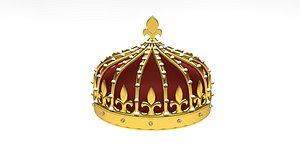 3D Crown animation model