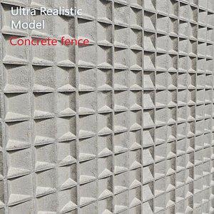 Ultra realistic Concrete Fence model