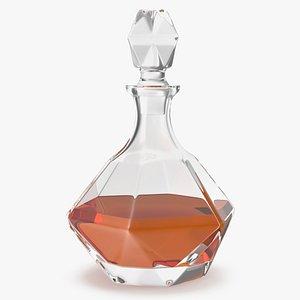 glass whiskey decanter model