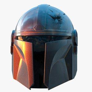 3D mandalorian helmet model