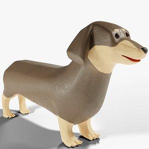 3D model Cartoon Dachshund