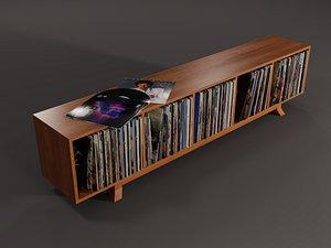 3D model vinyl storage