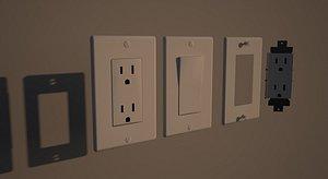 3D plaque electrique et interrupteur