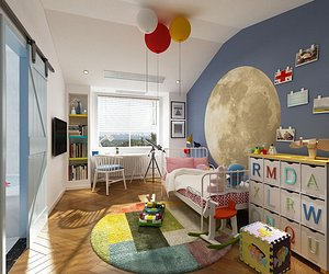 3D Bedroom Postmodern Bedroom Master Bedroom Simplified Bedroom Deluxe Bedroom European Bedroom Childre model