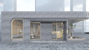 3D model Clothing Store 1