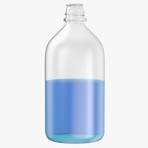 3D laboratory bottle large isopropanol