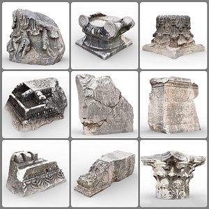 rock ancient perge 3D model
