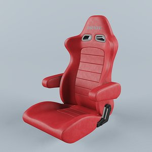 BRIDE EUROSTER II CRUZ Red Leather Seat 3D model