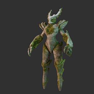 3D creature stone