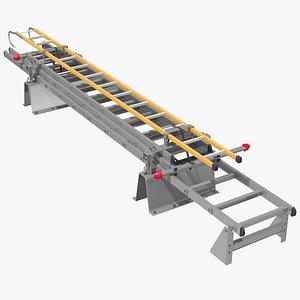 3D folded ladder model