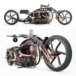 vehicle motorcycle moto 3D model