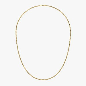 3D Chain Necklace NL009-0.6 model