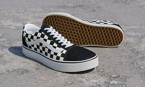 old skool checkboard sneaker model