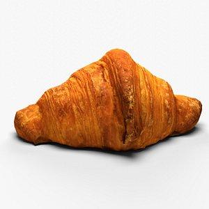 3D Pastry croissant
