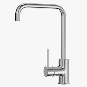 Angular Single Lever Sink Mixer Chrome 3D