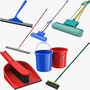Cleaning Tools Collection 3D model