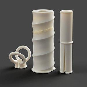 3D roller lint roll model