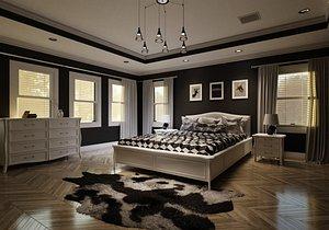 Contemporary Bedroom V2 3D model