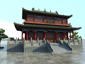 Chinese ancient architecture courtyard palace harem palace palace palace palace hall 3D model