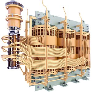 Oil Immersed Transformer Core Coil Windings 70 3D