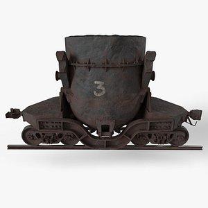 3D model Ladle Car
