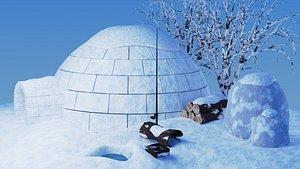 winter scene model
